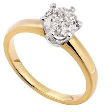 gold 1 carat engagement rings 1 carat solitaire 18ct gold ring the warehouse