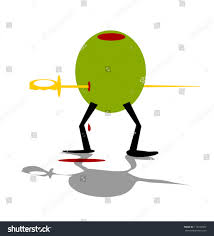 martini olives clipart martini olive stabbed plastic sword stock vector 113749669