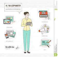 Copywriting Resume Professional Copywriter Stock Vector Image 58753406