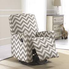 Oversized Swivel Rocker Recliner Crawford Taupe And Cream Fabric Modern Nursery Swivel Glider