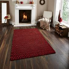 Hand Knotted Rugs India Sonic Wave Effect Optical Illusion Large Floor Mat 100 Wool Hand