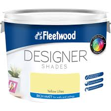 Designerpaint by Fleetwood Vinyl Matt Colours Paint 10 Litre Coloured Emulsions