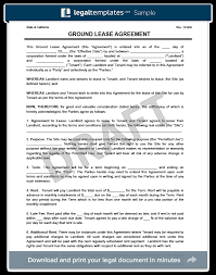 ground lease agreement print u0026 download legal templates
