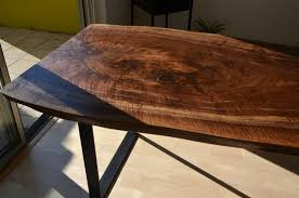 gorgeous live edge claro walnut slab table