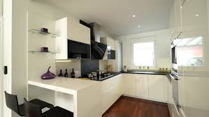 House Design Hd Image White Modern Kitchen In A House With A Beautiful Design Stock