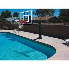 Backyard Basketball Hoops First Team Hydroshot Ii Poolside Basketball Hoop