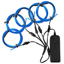 zitrades el wire blue super bright portable el wires kits