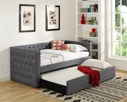 crown mark 5335gy set trina upholstered daybed gray mattresses
