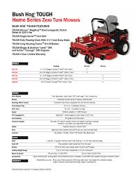 bush hog home series user manual 1 page also for hs1736