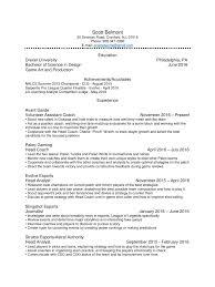 Best Resume Game by Scott Belmont Esports Resume Pdf Pdf Archive