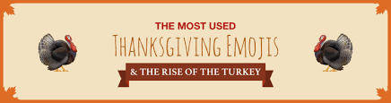 the most used thanksgiving emojis the rise of the turkey