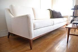 Stunning Orange Leather Sofa Set With Beautiful And Feminine - Midcentury sofas