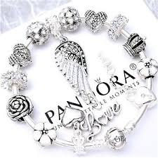 bracelet silver ebay images Authentic pandora charm bracelet silver bangle with love angel jpg