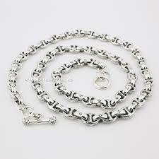solid sterling silver necklace images Huge heavy solid 925 solid sterling silver mens biker necklace jpg