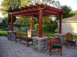 Backyard Pavers Backyard Paver Ideas Detailed Western Red Cedar Pergola Covering