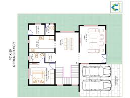 3 bhk floor plan for 40 x 50 plot 2000 square feet 222