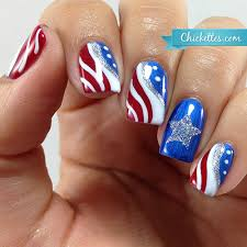 patriotic fourth of july nail art chickettes design july 4th
