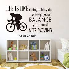 free shipping motivation quotes life is like riding a bicycle