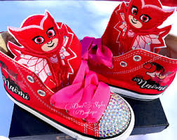 pj masks light up shoes pj mask shoes etsy