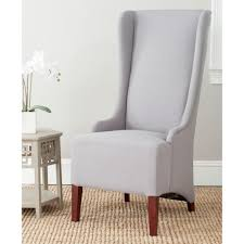 safavieh bacall arctic grey cotton blend dining chair mcr4501g