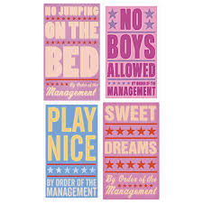 Wall Decals For Girls Bedroom Bedroom Rules Girls Room Wall Decal Set Wall Decor Retroplanet Com