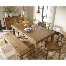 Large Wood Dining Room Table Solid Pine Wood Large Dining Room Bench With Turned Legs By