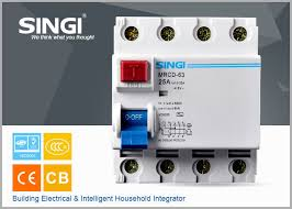 electrical residual current circuit breaker for home mini