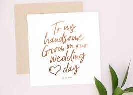 To My Groom On Our Wedding Day Card 444 Best Wedding Stationery And Paper Goods Images On Pinterest
