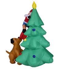 sale home u0026 garden inflatable santa claus christmas tree