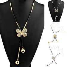 butterfly long chain necklace images Elegant butterfly long beaded chain necklace freedom look png