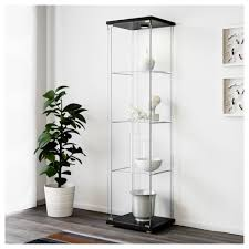 Black Display Cabinet With Glass Doors by Ikea Detolf Glass Curio Display Cabinet 35 With Ikea Detolf Glass
