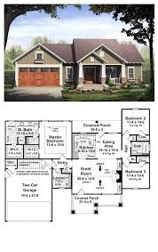three bedroom two bath house plans bungalow style cool house plan id chp 37252 total living area