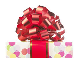 big present bow gift with big bow and ribbon stock photo image of packaging