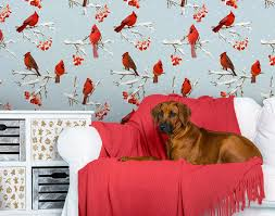add holiday charm to your walls with christmas murals adorable home holiday wall mural with red birds