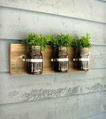 triple mason jar wall planters home decor u0026 lighting tickled