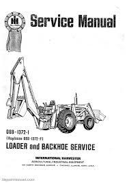 international harvester 3444 tractor loader backhoe manual
