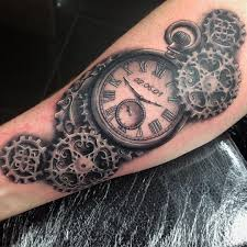 pocket watch steampunk tattoo design u2026 pinteres u2026