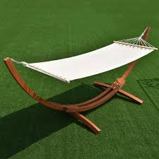 Hammock With Wooden Stand Amazon Com Giantex Wooden Curved Arc Wide Hammock Swing And