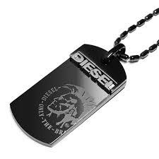 necklace black men images Salada bowl rakuten global market diesel diesel necklace dog jpg
