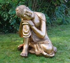 large garden ornaments gold sleeping deity buddha statue buy now