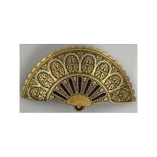 hair barrette gold geometric fan hair barrette style 2344