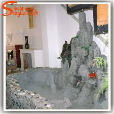 china customized indoor artificial ornamental rock water