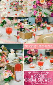 theme bridal shower decorations a beautiful sorbet bridal shower by julie blanner unique wedding