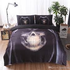 halloween 3d skull black bedding set hd skulls quality duvet cover