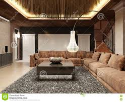 luxury modern living room done in the art deco style stock