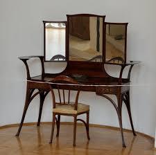 Vintage Vanity Chair Table Fetching Dark Wood Dressing Table Mirror Tophatorchids Com