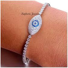 swarovski eye bracelet images Euphoricjewelz good luck pave swarovski zirconia evil eye charm jpeg