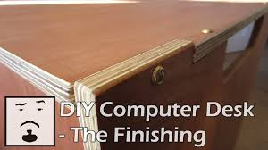 diy computer desk the finishing youtube