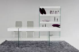 White Modern Dining Room Sets Aura Modern White Floating Dining Table
