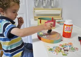 easy kids craft decoupage treasure box mod podge rocks
